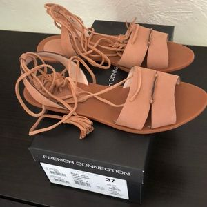 French Connection Bobbi Flat Tie Up Sandal